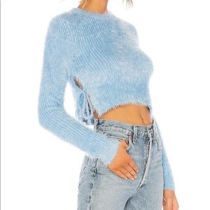 MAJORELLE dusty blue Marjorie sweater